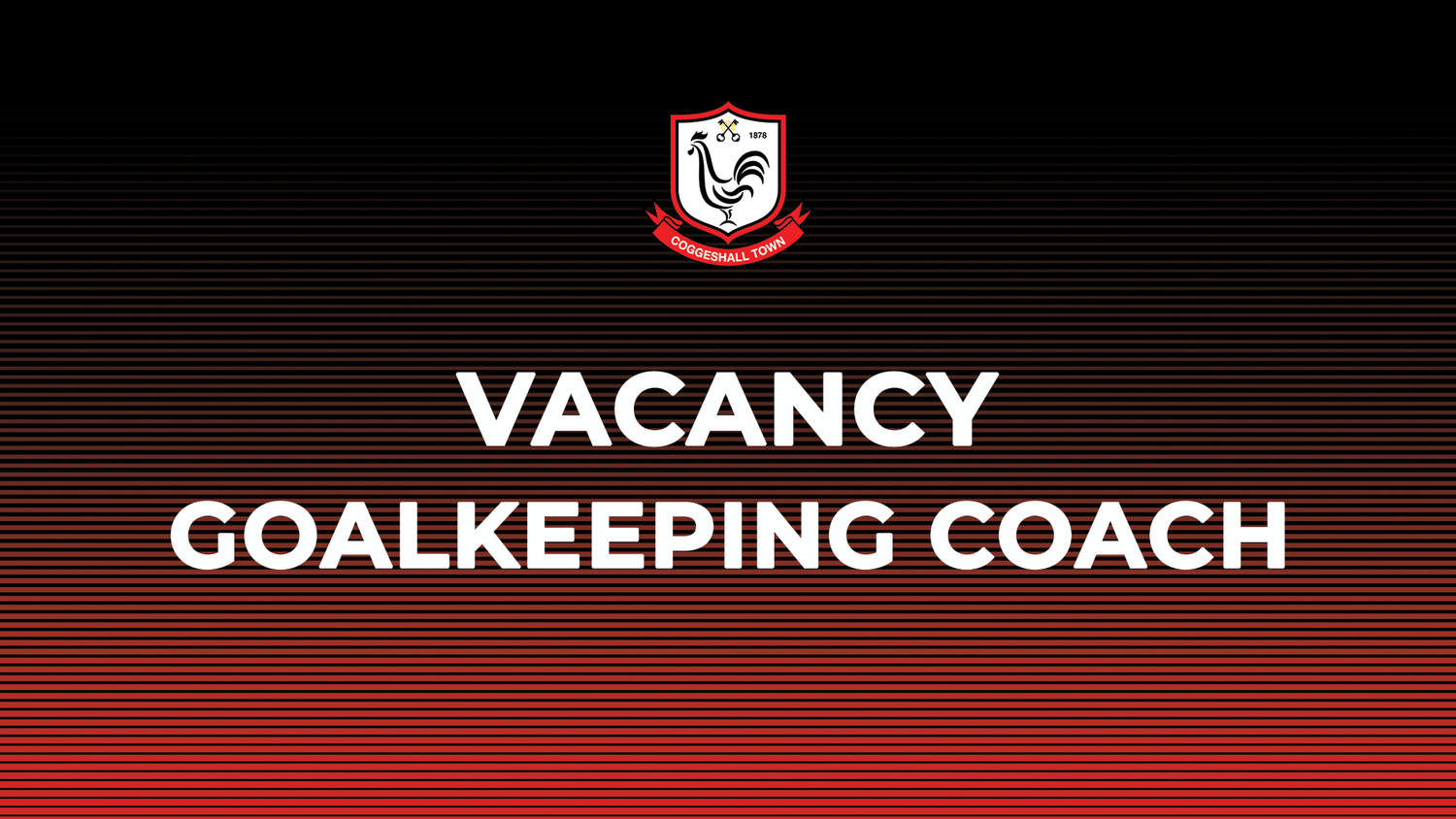 Vacancy – Goalkeeping Coach