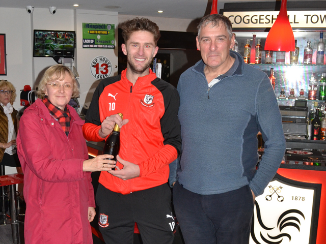 Ross Wall with the Man of the Match Award